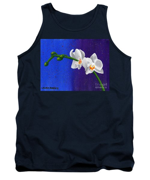 Tank Top featuring the painting White Orchids by Laura Forde