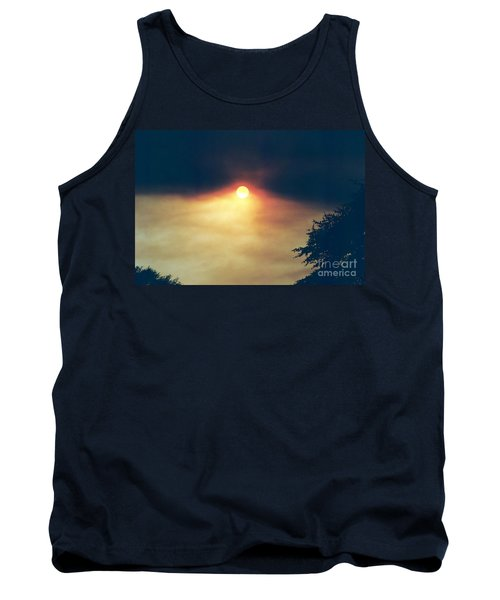 Tank Top featuring the photograph Wildfire Smoky Sky by Kerri Mortenson