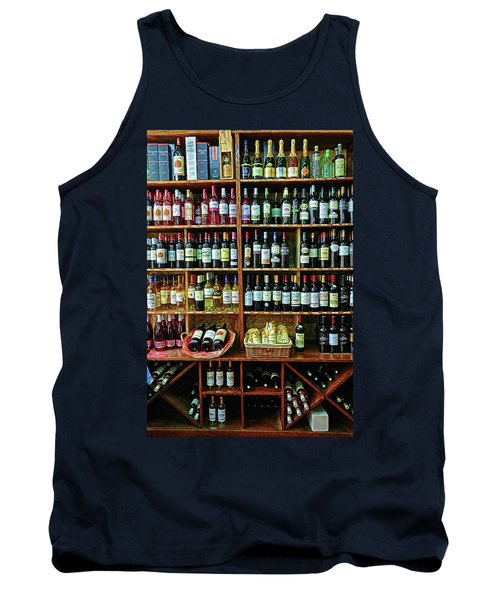 Tank Top featuring the photograph Wine Store Provence France by Dave Mills