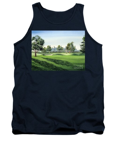 Tank Top featuring the painting Winged Foot West Golf Course 18th Hole by Bill Holkham