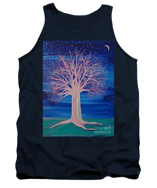 Winter Fantasy Tree Tank Top by First Star Art