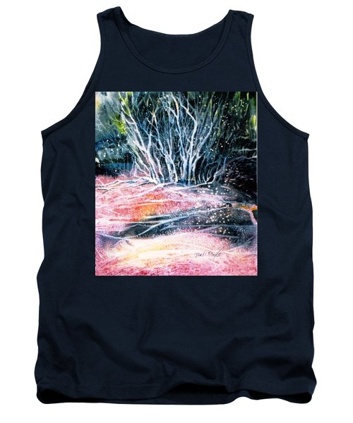 Tank Top featuring the painting Winter Habitat No.1 by Trudi Doyle