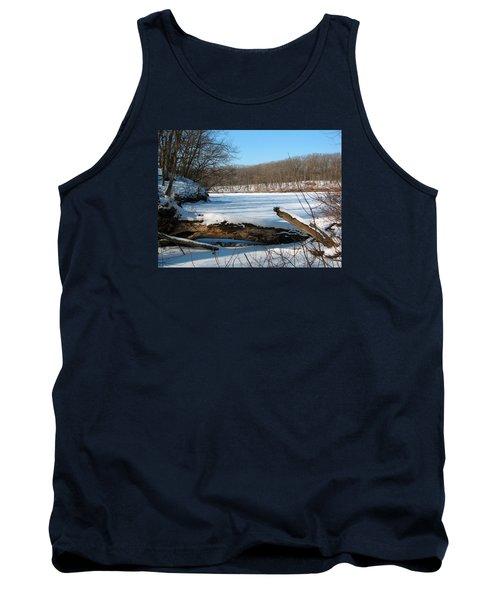 Winter On Sauk Lake 2 Tank Top by Cedric Hampton