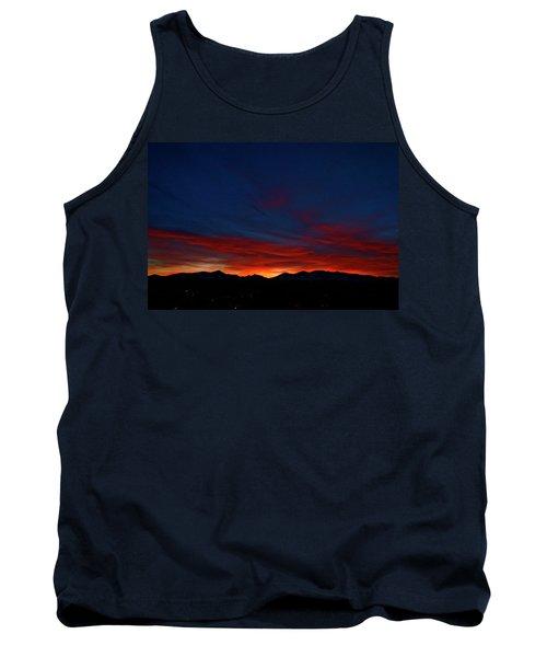 Winter Sunset Tank Top by Jeremy Rhoades