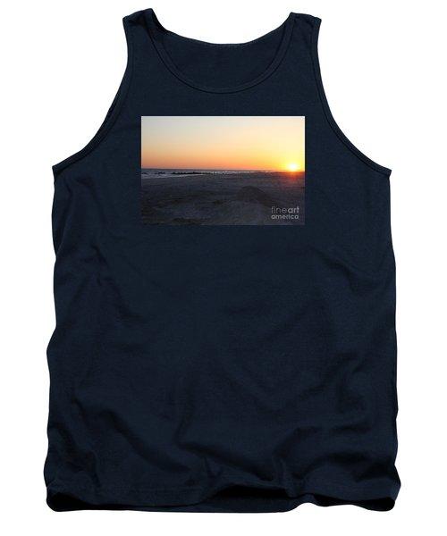 Winter Sunset On Long Beach Tank Top by John Telfer