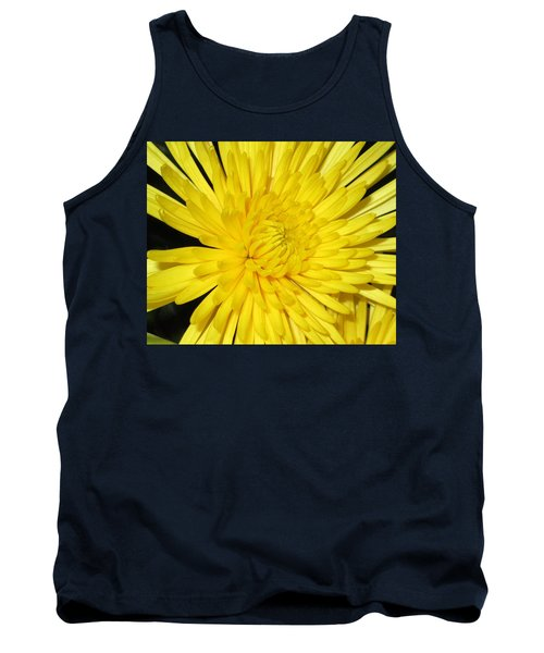 Yellow Flower Closeup Tank Top by Barbara Yearty