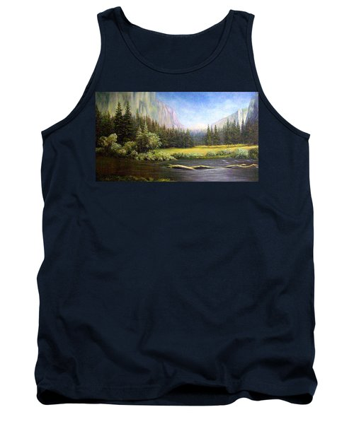 Tank Top featuring the painting Yosemite by Loxi Sibley
