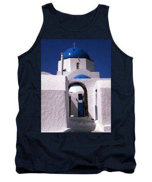 Tank Top featuring the photograph Santorini Church Greece by Colette V Hera  Guggenheim