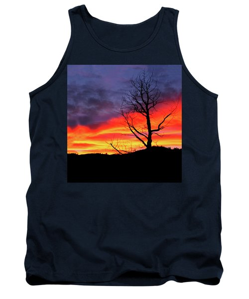 Tank Top featuring the digital art Night Fall In Yellowstone by Gary Baird