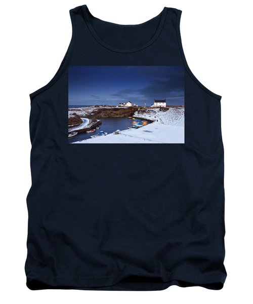 Tank Top featuring the photograph A Village On The Coast Seaton Sluice by John Short