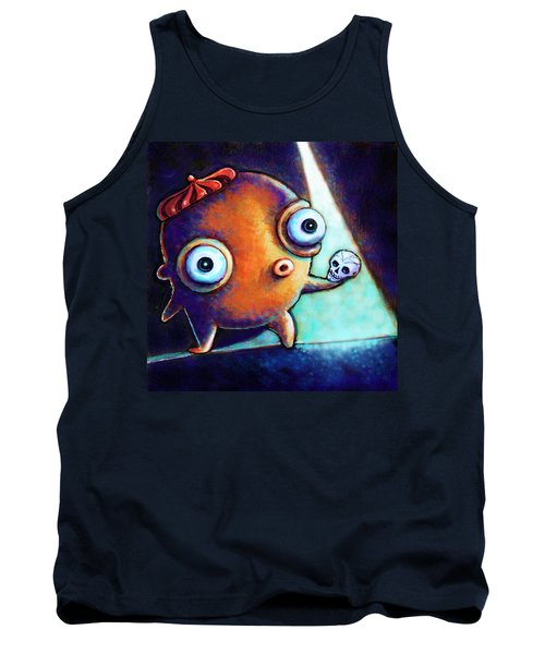 Tank Top featuring the painting Alas Poor Yorick by Leanne Wilkes