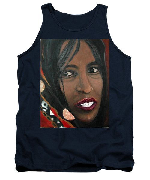 Tank Top featuring the painting Alem E. W. by Anna Ruzsan