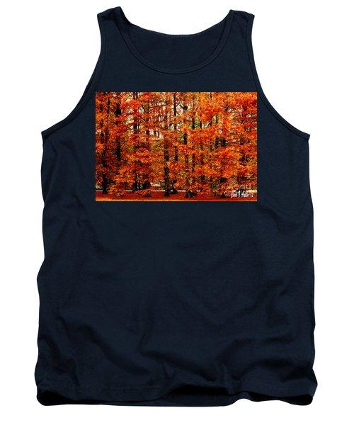 Autumn Red Maple Landscape Tank Top by Carol F Austin