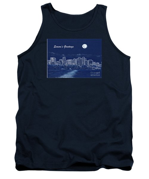 Bellevue Skyline Holiday Card Tank Top