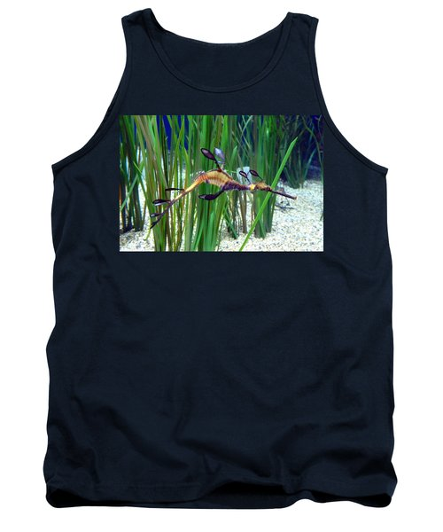 Tank Top featuring the photograph Black Dragon Seahorse by Carla Parris