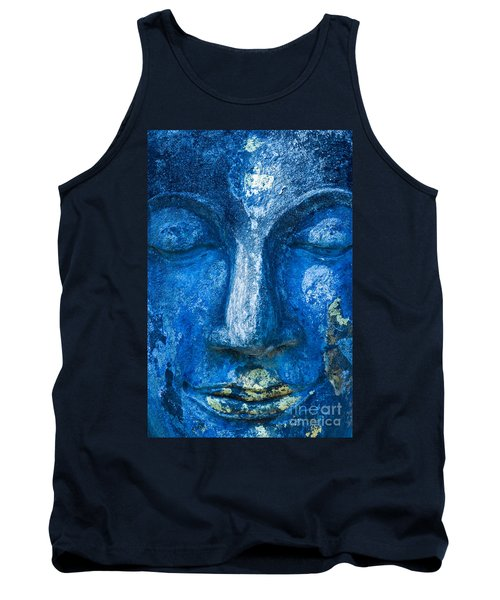 Tank Top featuring the photograph Blue Buddha  by Luciano Mortula
