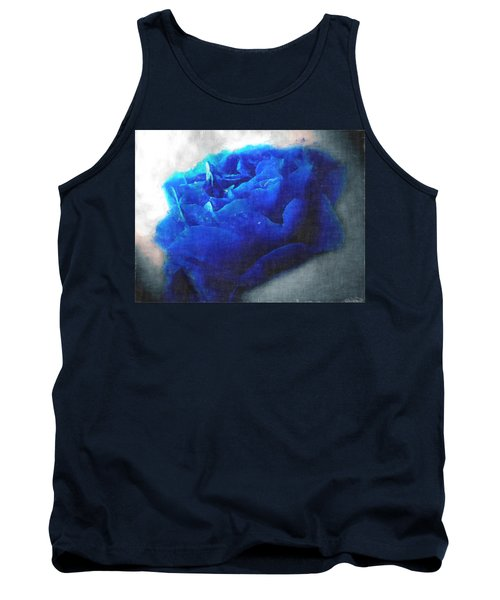 Tank Top featuring the digital art Blue Rose by Debbie Portwood