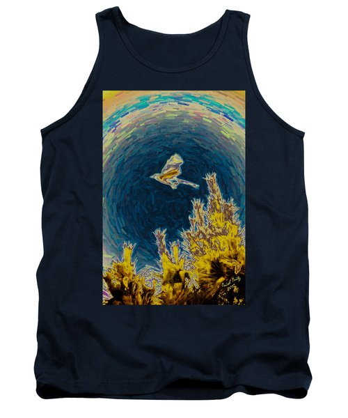 Bluejay Gone Wild Tank Top by Trish Tritz