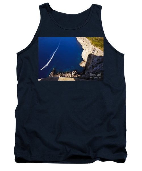 Boat In The Sea Tank Top