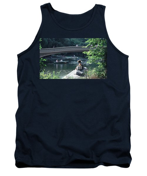 Bow Bridge In Central Park Nyc Tank Top by Tom Wurl