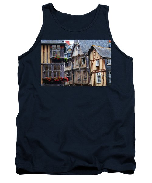 Tank Top featuring the photograph Brittany Buildings by Dave Mills