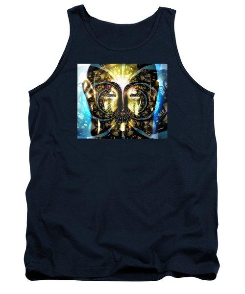 Buddha Blue Mandala Tank Top