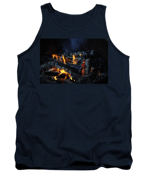 Tank Top featuring the photograph Campfire by Fran Riley
