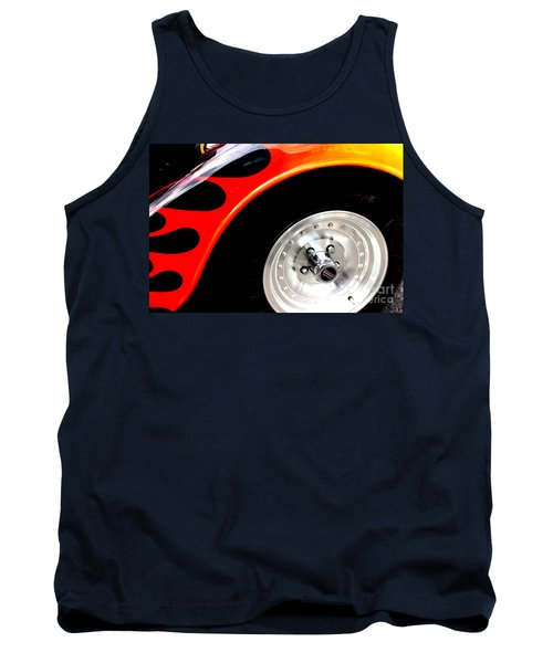 Tank Top featuring the digital art Curves Of Flames by Tony Cooper
