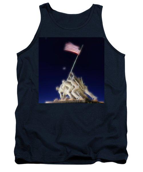 Digital Lightening - Iwo Jima Memorial Tank Top