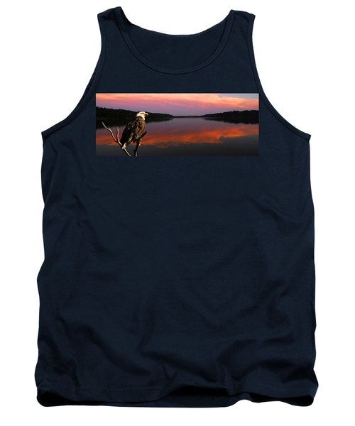 Tank Top featuring the photograph Eagle Overlooking Domain by Randall Branham