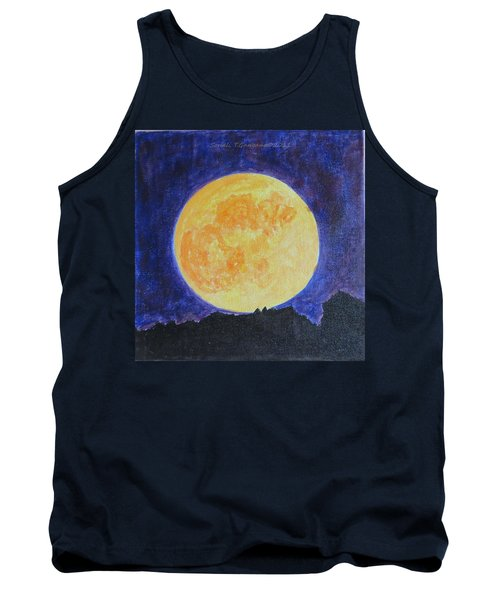 Tank Top featuring the painting Full Moon by Sonali Gangane