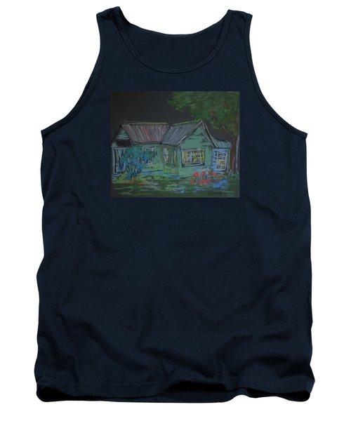 Tank Top featuring the painting Gabby's House by Francine Frank