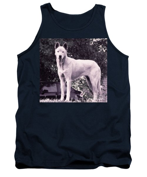 Ghost The Wolf Tank Top by Maria Urso