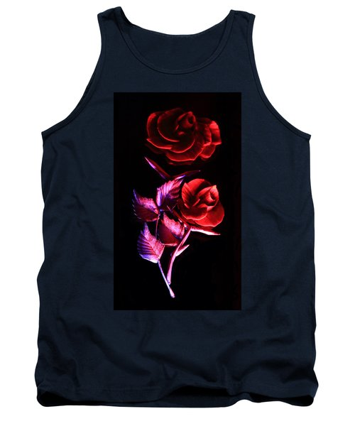 Glowing Glass Rose Tank Top