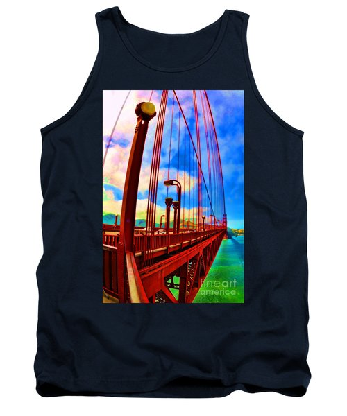 Tank Top featuring the photograph Golden Gate Bridge - 8 by Mark Madere