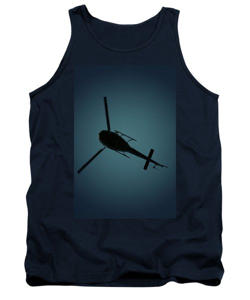 Helicopter Silhouette Tank Top