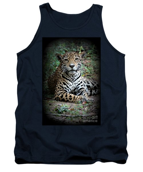 Tank Top featuring the photograph Jaguar Portrait by Kathy  White