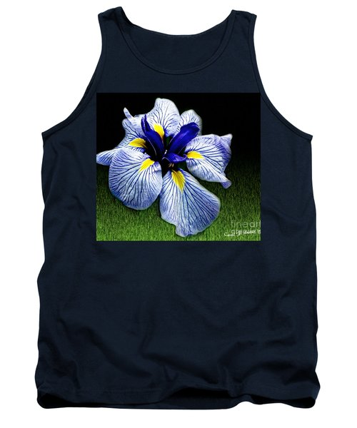 Japanese Iris Ensata - Botanical Wall Art Tank Top