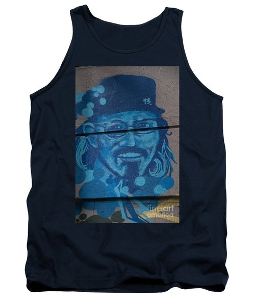 Johnny On The Wall Tank Top by Carol Ailles