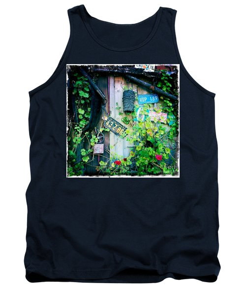 Tank Top featuring the photograph License Plate Wall by Nina Prommer