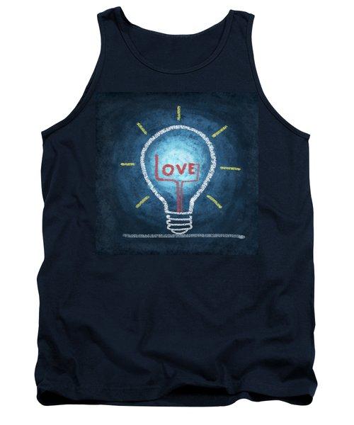 Love Word In Light Bulb Tank Top