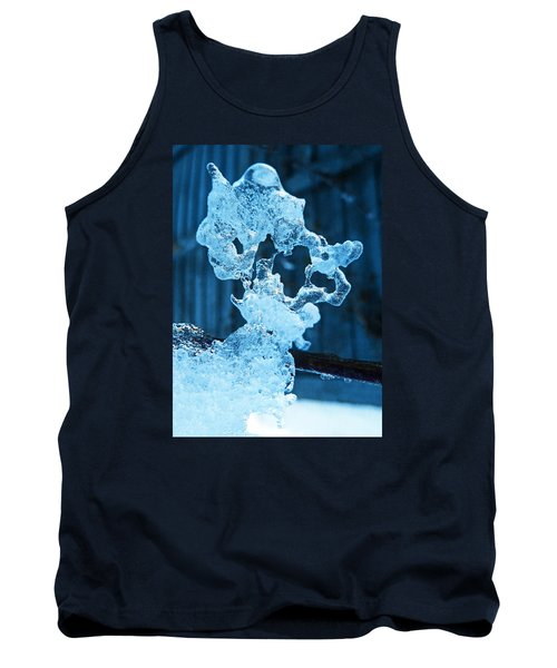 Tank Top featuring the photograph Meet The Ice Sculpture by Steve Taylor