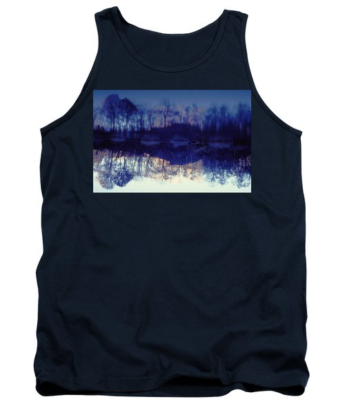 Mirror Pond In The Berkshires Tank Top by Tom Wurl