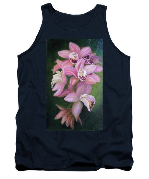 Tank Top featuring the painting Orchids by Marlyn Boyd