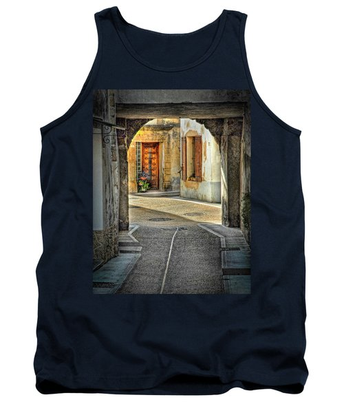 Tank Top featuring the photograph Passageway And Arch In Provence by Dave Mills