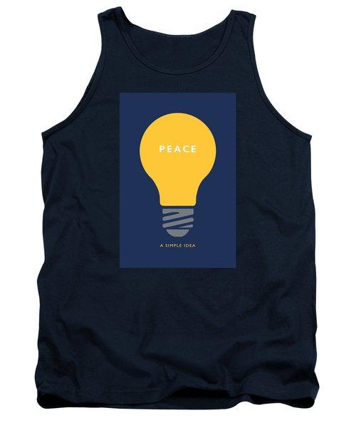 Peace A Simple Idea Tank Top by David Klaboe