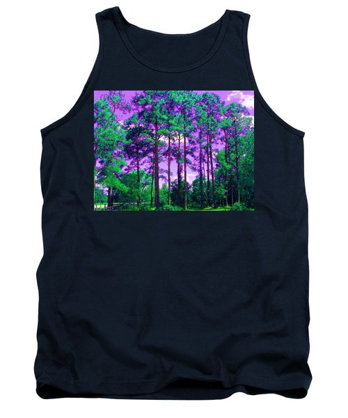 Tank Top featuring the photograph Purple Sky by George Pedro