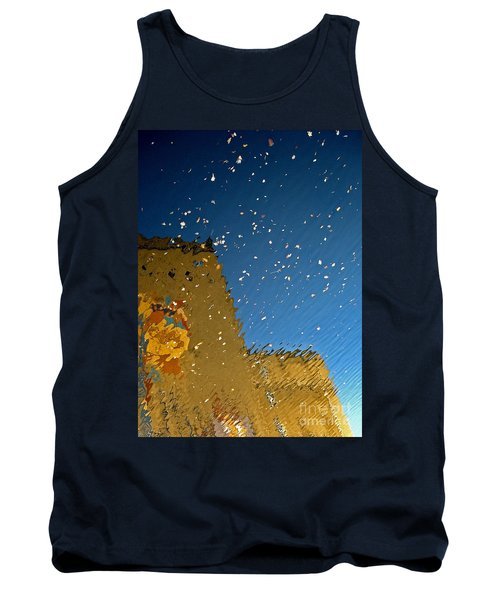 Tank Top featuring the photograph River Crossing Border Crossing by Andy Prendy