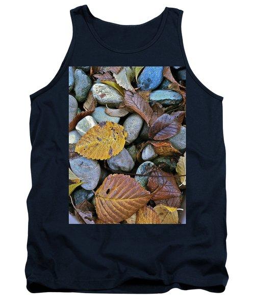 Rocks And Leaves Tank Top by Bill Owen
