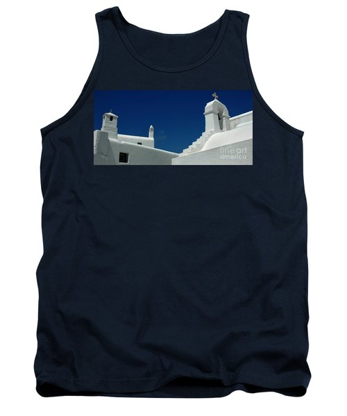 Rooftops Of Mykonos Tank Top by Vivian Christopher